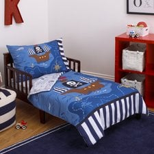 pirate-4-piece-toddler-bedding-set Pirate Bedding Sets and Pirate Comforter Sets