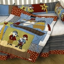 pirates-cove-4-piece-crib-bedding-set Nautical Crib Bedding and Beach Crib Bedding