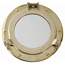 polished-brass-porthole-mirror Porthole Themed Mirrors
