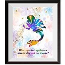 princess-ariel-little-mermaid-abstract-art Mermaid Wall Art and Mermaid Wall Decor
