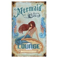 red-horse-mermaid-lounge-vintage-advertisement Mermaid Wall Art and Mermaid Wall Decor