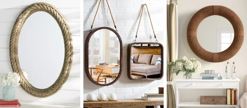 Rope Mirrors and Rope Hanging Mirrors