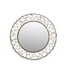 round-gold-bevel-rope-mirror Rope Mirrors and Rope Hanging Mirrors