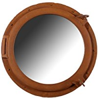 rusty-finish-porthole-mirror 100+ Porthole Themed Mirrors For Nautical Homes For 2020