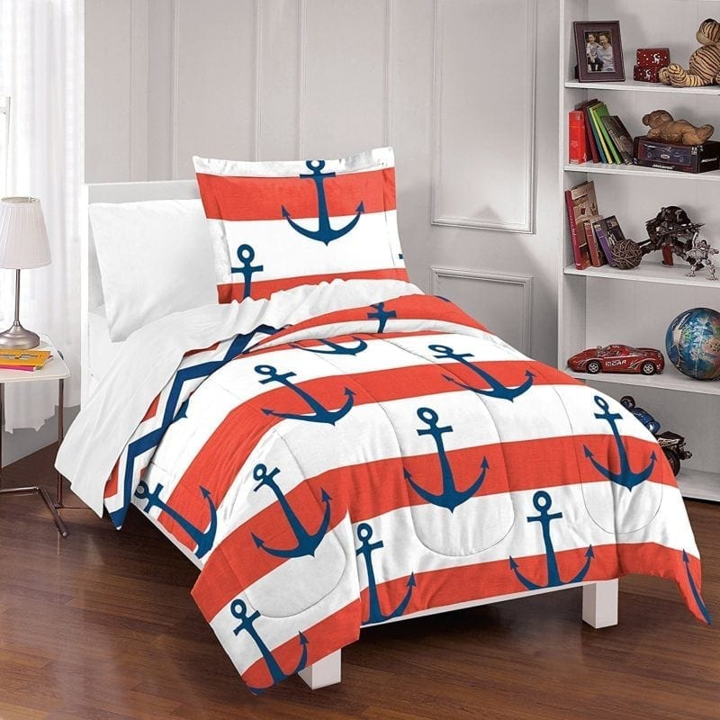 sail-away-dream-factory-anchor-comforter-set-800x800 Nautical Bedding Sets & Nautical Bedspreads