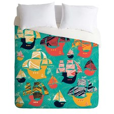 sam-osborne-pirate-ships-duvet-cover Pirate Bedding Sets and Pirate Comforter Sets