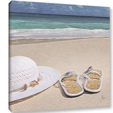 sandals-on-the-beach-canvas-painting Beach Paintings and Coastal Paintings