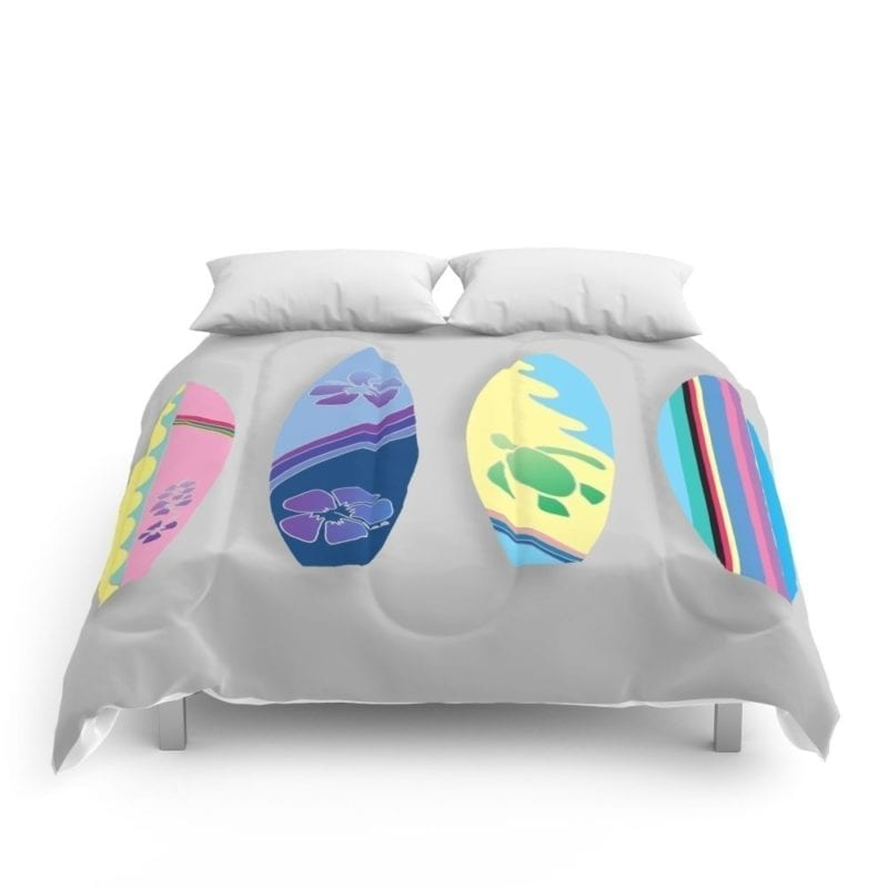 society6-four-surfboards-comforter-set-800x800 50+ Surf Bedding and Surf Comforter Sets