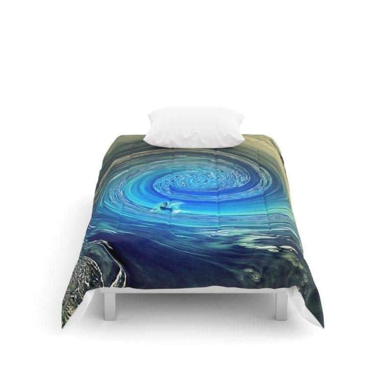 society6-surf-spiral-comforter-set-800x800 50+ Surf Bedding and Surf Comforter Sets