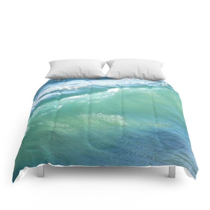 society6-surf-teal-comforter-800x800 50+ Surf Bedding and Surf Comforter Sets