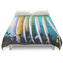 society6-surfboard-duvet-cover 50+ Surf Bedding and Surf Comforter Sets