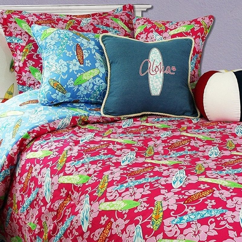 surfer-girl-comforter-hibiscus-flowers-800x800 50+ Surf Bedding and Surf Comforter Sets