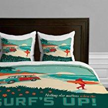 surfs-up-duvet-cover 50+ Surf Bedding and Surf Comforter Sets