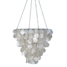 tapered-2-light-crystal-chandelier Capiz Shell Chandeliers