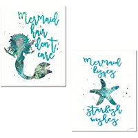 teal-mermaid-paper-and-posters-prints Mermaid Wall Art and Mermaid Wall Decor