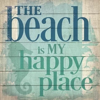 the-beach-is-my-happy-place-wooden-beach-sign The Best Wooden Beach Signs You Can Buy