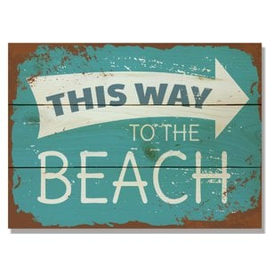 this-way-to-the-beach-wooden-sign Beach Wall Decor