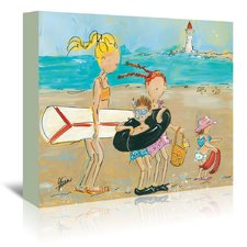 to-the-beach-canvas-art Beach Paintings and Coastal Paintings