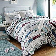 volkswagen-surfs-up-duvet-cover-set Surf Bedding Sets & Surf Comforter Sets