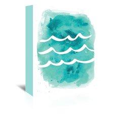 watercolor-aqua-waves-painting Beach Paintings and Coastal Paintings