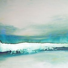 wave-study-painting-on-wrapped-canvas Beach Paintings and Coastal Paintings