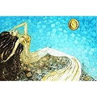 white-gold-blue-yellow-mermaid-art-print Mermaid Wall Art and Mermaid Wall Decor