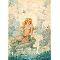 young-mermaid-siren-art-poster Mermaid Wall Art and Mermaid Wall Decor