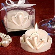 100-interlocking-hearts-design-candles Candle Wedding Favors