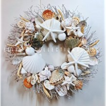 21-seashell-wreath 70+ Beach Christmas Wreaths and Nautical Wreaths