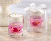Elegant-Orchid-tealight-holder Candle Wedding Favors