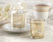 Gold-Tealight-Holder-Wedding-Favor Candle Wedding Favors