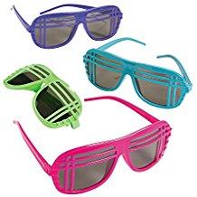 Neon-80s-Style-Sunglasses Sunglasses Wedding Favors