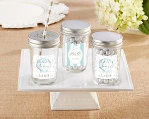 Personalized-Beach-Tides-Glass-Mason-Jar Mason Jar Wedding Favors