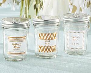 Personalized-Copper-Foil-Mason-Jar Mason Jar Wedding Favors