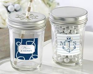 Personalized-Nautical-Wedding-Mason-Jar Mason Jar Wedding Favors
