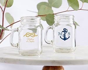 Personalized-Nautical-Wedding-Mini-Mason-Shot-Glass Mason Jar Wedding Favors