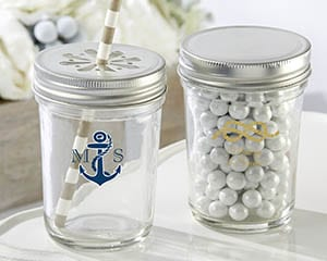 Personalized-Nautical-Wedding-Printed-Glass-Mason-Jar Mason Jar Wedding Favors