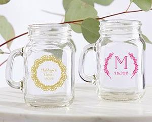 Personalized-Rustic-Charm-Wedding-Mini-Mason-Glass Mason Jar Wedding Favors