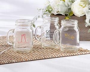 Personalized-Wedding-and-Bridal-Shower-Mini-Mason-Shot-Glass Mason Jar Wedding Favors
