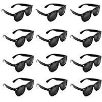 Plastic-Black-Vintage-Retro-Wayfarer-Style-Sunglasses Sunglasses Wedding Favors