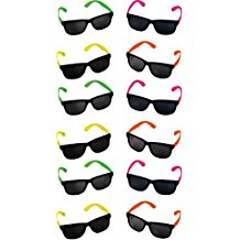 Rhode-Island-Novelty-Neon-80s-Style-Party-Sunglasses-with-Dark-Lens Sunglasses Wedding Favors