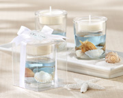 Seashell-Gel-Tealight-Holder Candle Wedding Favors