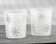 Sparkling-Snowflake-Glass-Tea-Light-Holder Candle Wedding Favors