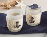 anchors-away-rope-tealight-holder Candle Wedding Favors