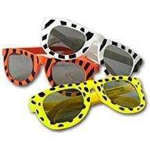 animal-print-plastic-sunglasses-favors Sunglasses Wedding Favors