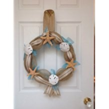 beach-seashore-door-wreath 70+ Beach Christmas Wreaths and Nautical Wreaths