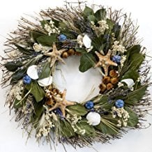 big-sur-beach-wreath-20 70+ Beach Christmas Wreaths and Nautical Wreaths