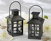 black-mini-lanterns Candle Wedding Favors