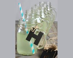 chalkboard-letter-and-jute-twin-mason-jar-mugs Mason Jar Wedding Favors