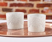 concrete-lace-votive-holder Candle Wedding Favors